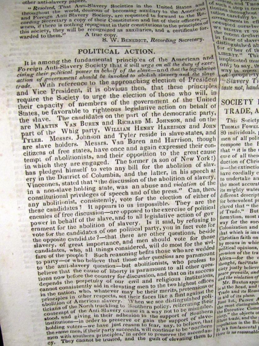 Abolitionist newspaper Aug 1840 - 3