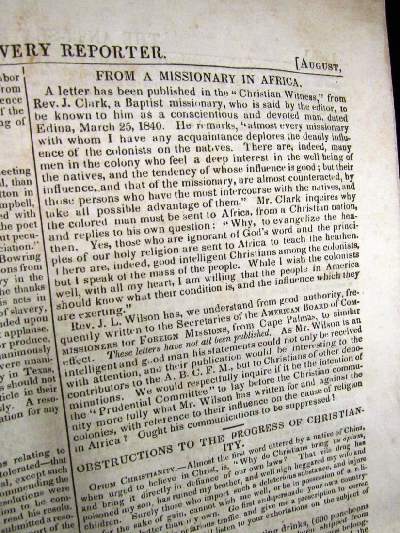 Abolitionist newspaper Aug 1840 - 4