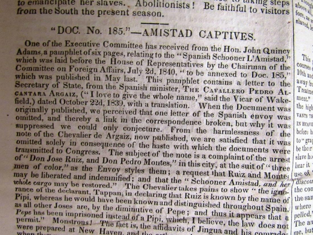 Abolitionist newspaper Aug 1840 - 5