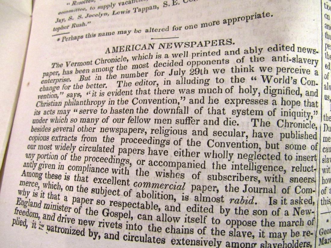 Abolitionist newspaper Sep 1840 - 5