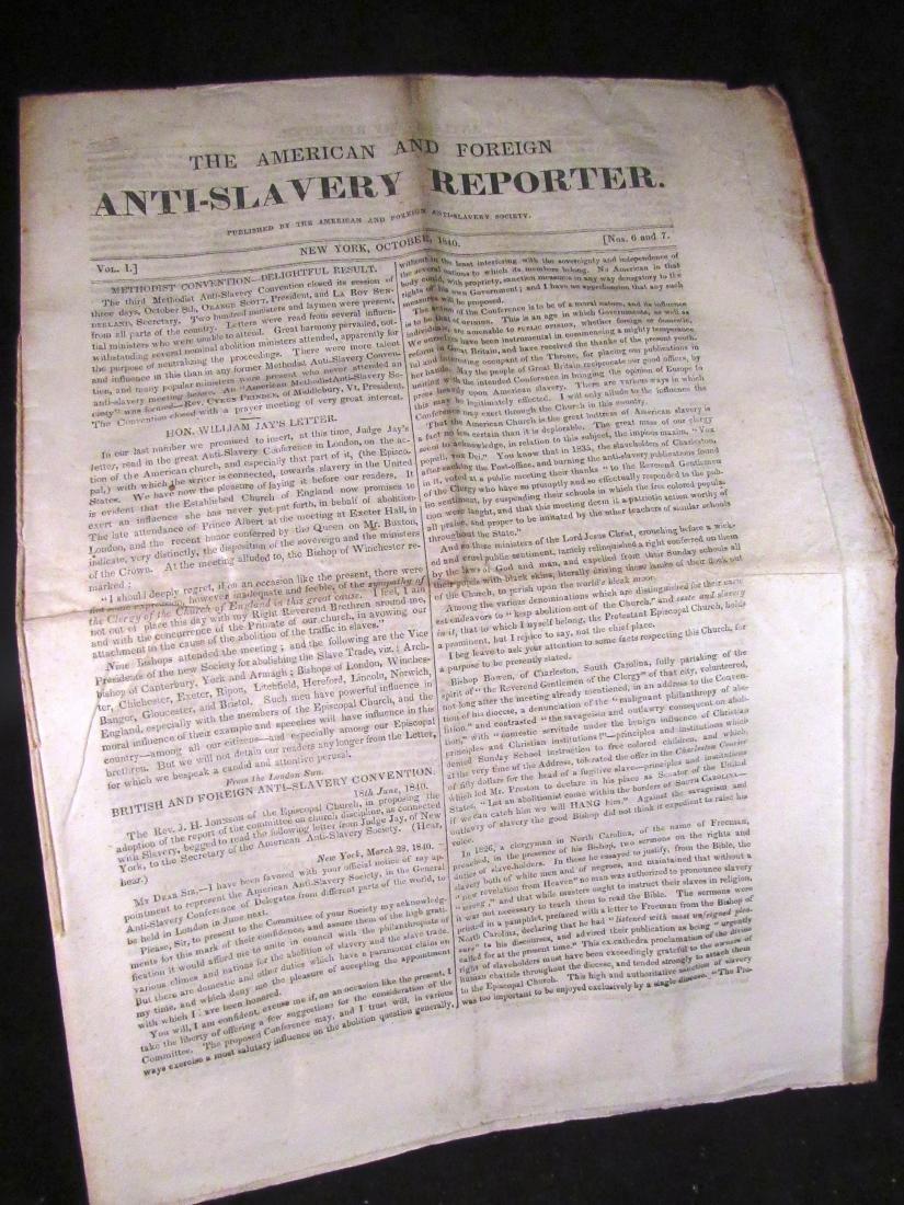 Abolitionist newspaper Oct 1840