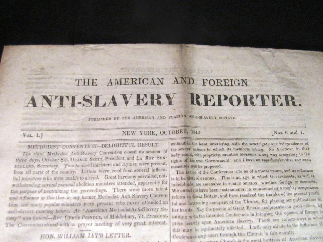 Abolitionist newspaper Oct 1840 - 2