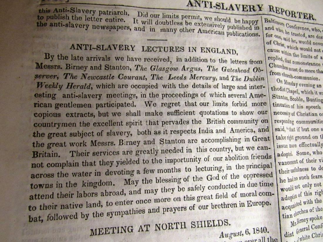 Abolitionist newspaper Oct 1840 - 4