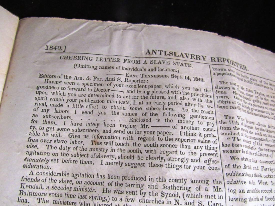 Abolitionist newspaper Oct 1840 - 7