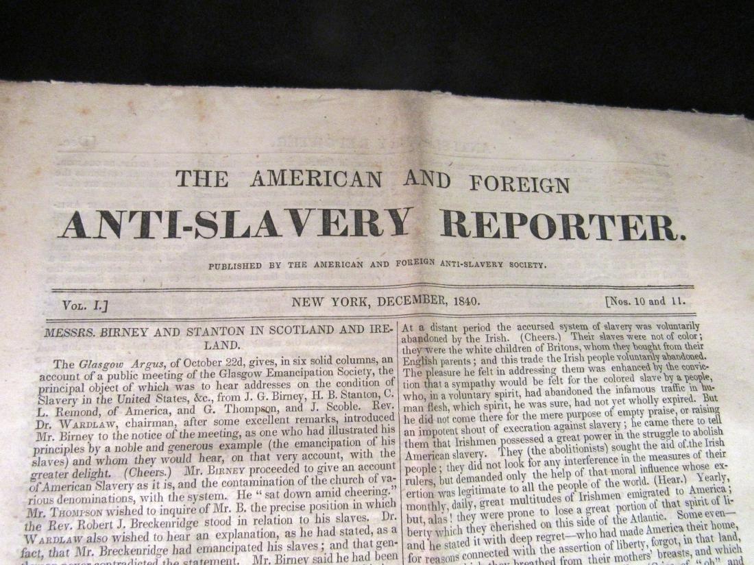 Abolitionist newspaper Dec 1840 - 2