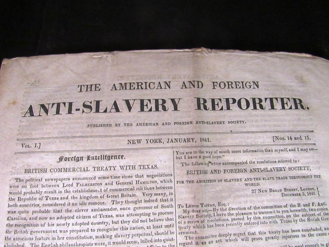 Abolitionist newspaper Jan 1841 - 2