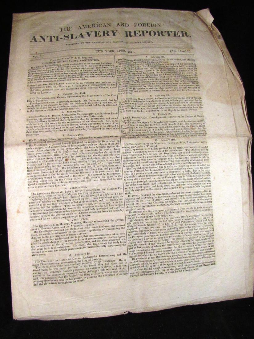 Abolitionist newspaper Apr 1841