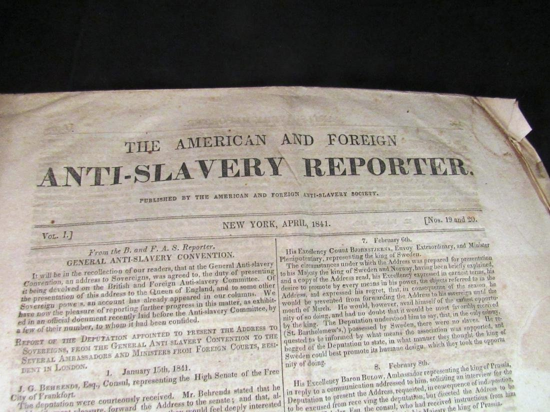 Abolitionist newspaper Apr 1841 - 2