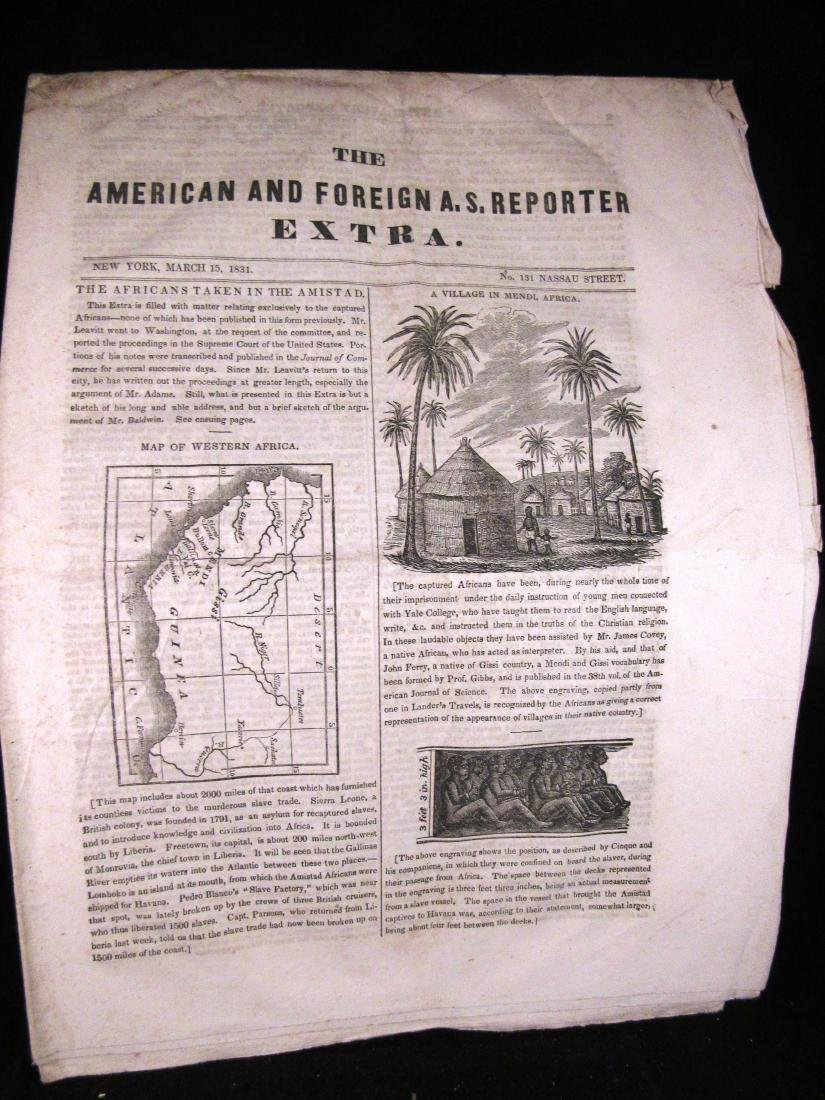 Abolitionist newspaper June 1841 Amistead