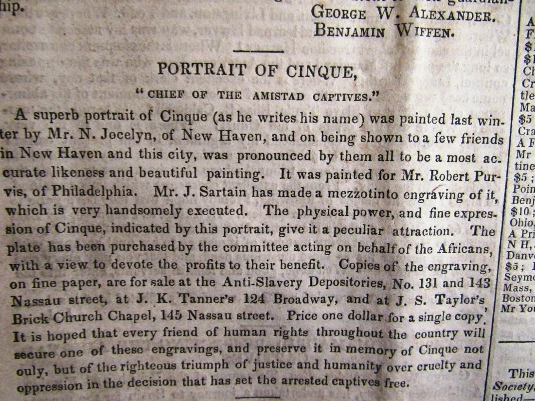 Abolitionist newspaper June 1841 Amistead - 6