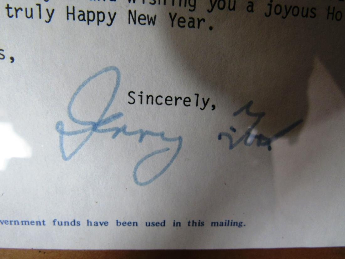 Gerald and Betty Ford Autographs - 3