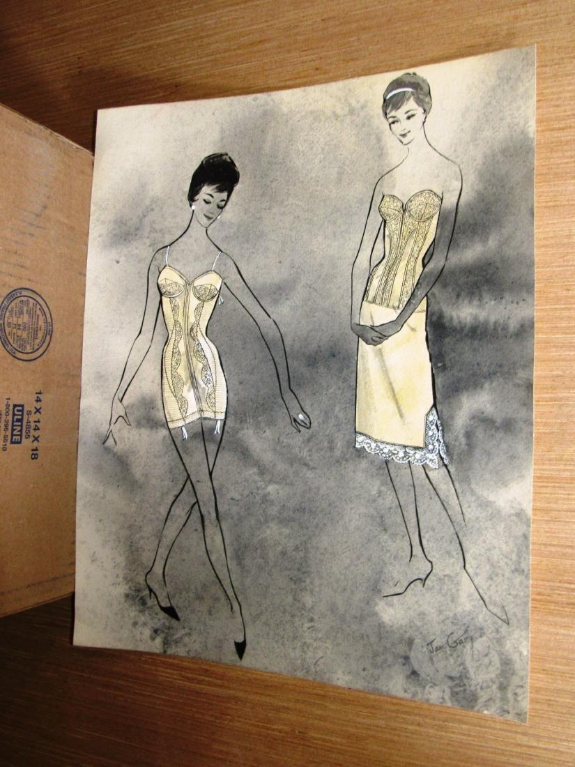 Jan Gary lingerie fashion signed