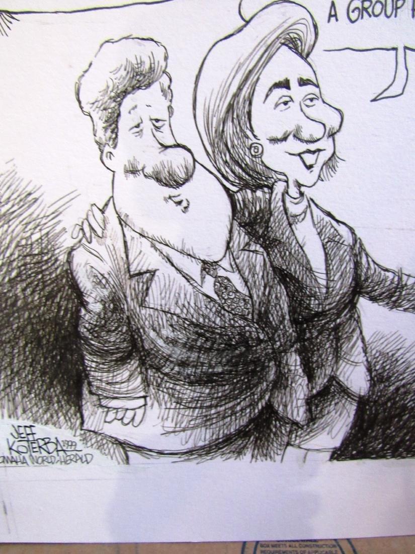 Jeff Koterba Clintons cartoon, signed - 2