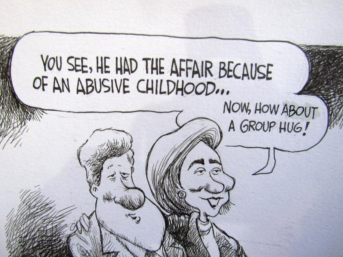 Jeff Koterba Clintons cartoon, signed - 3