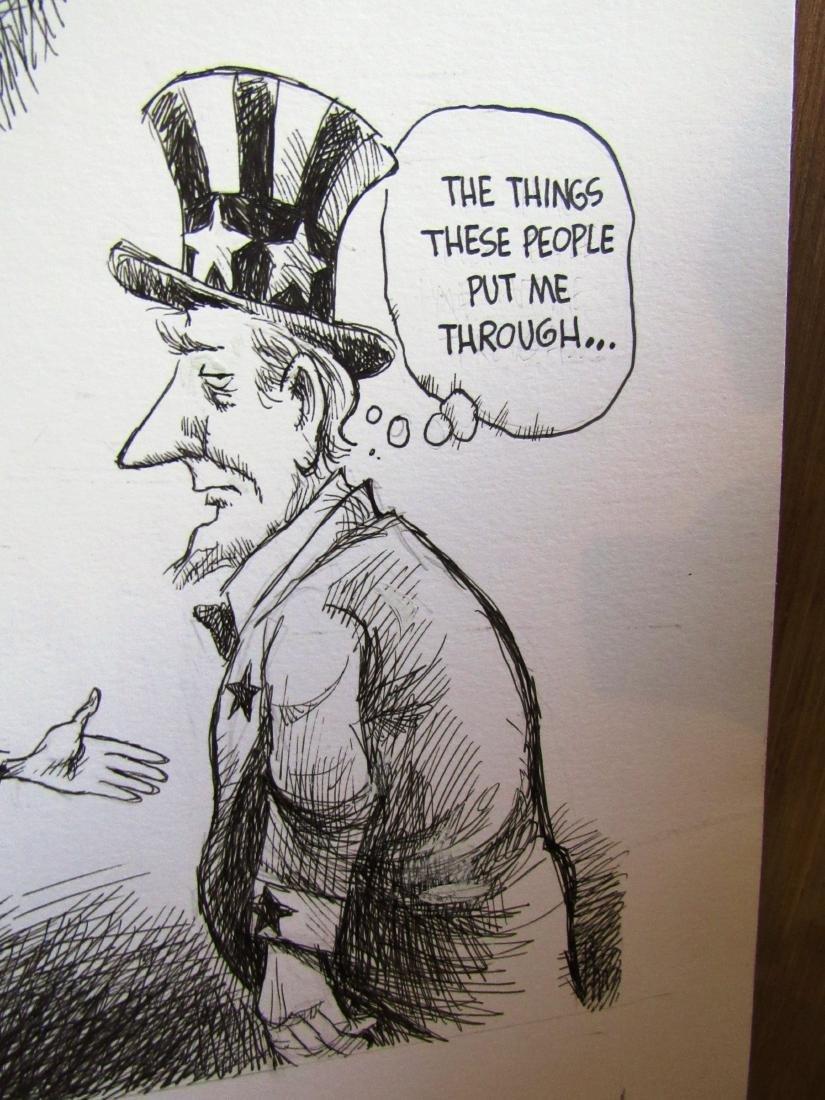Jeff Koterba Clintons cartoon, signed - 4