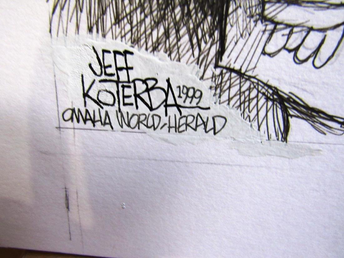 Jeff Koterba Clintons cartoon, signed - 5