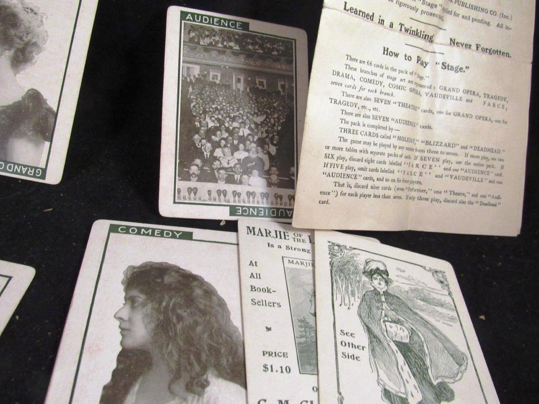 """""""Stage"""" 1904 boxed movie star card game - 6"""