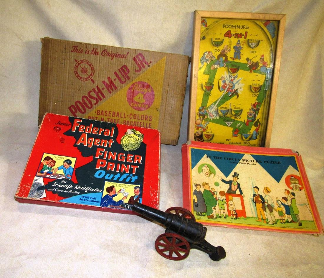 Lot of antique toys