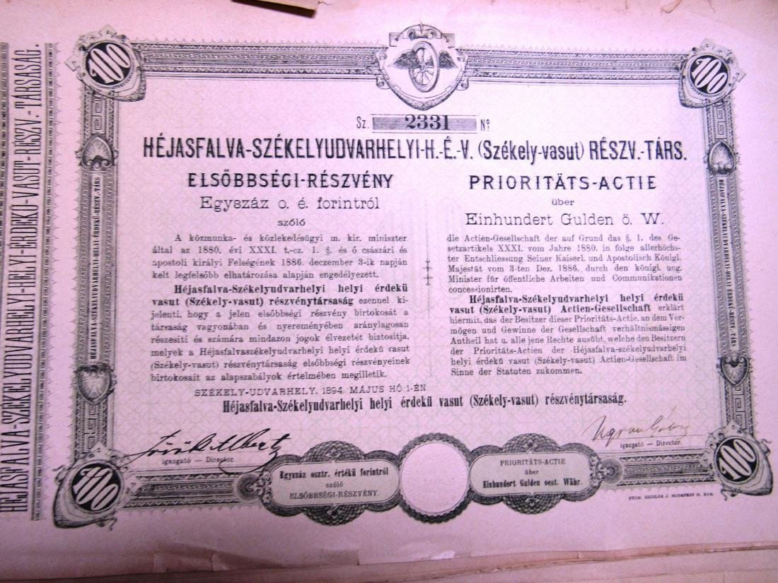 (40) Antique Railroad stock certificates
