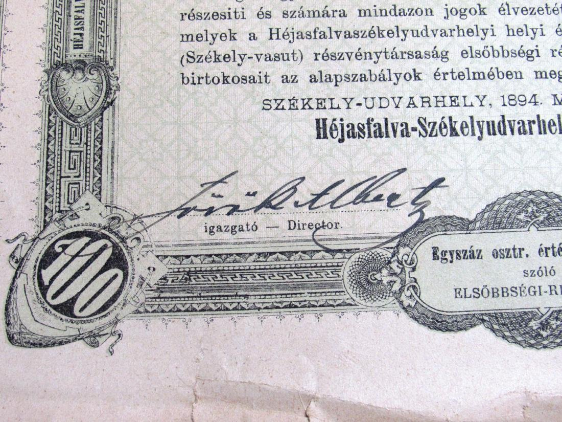 (40) Antique Railroad stock certificates - 2