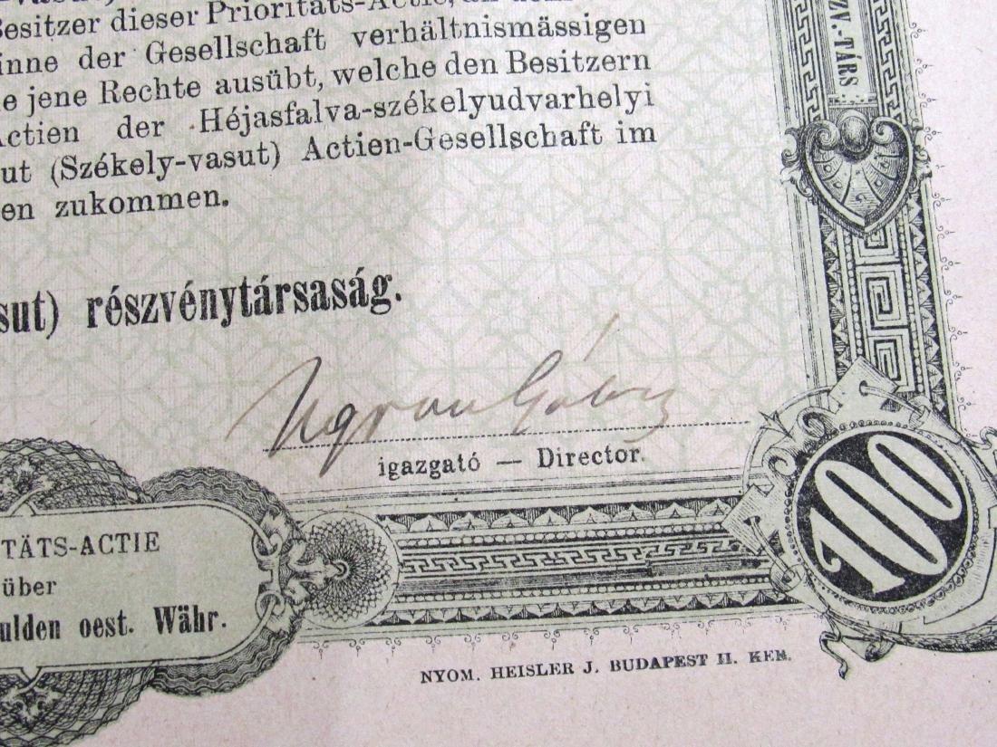 (40) Antique Railroad stock certificates - 3