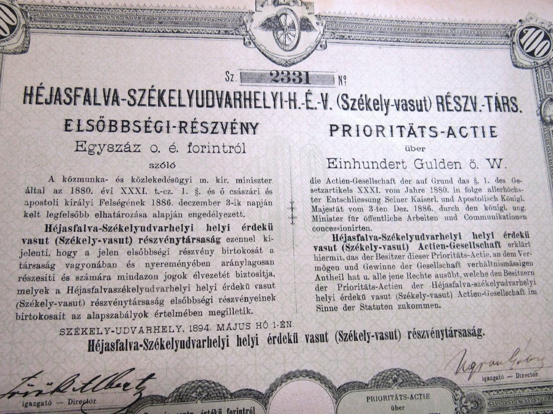 (40) Antique Railroad stock certificates - 4