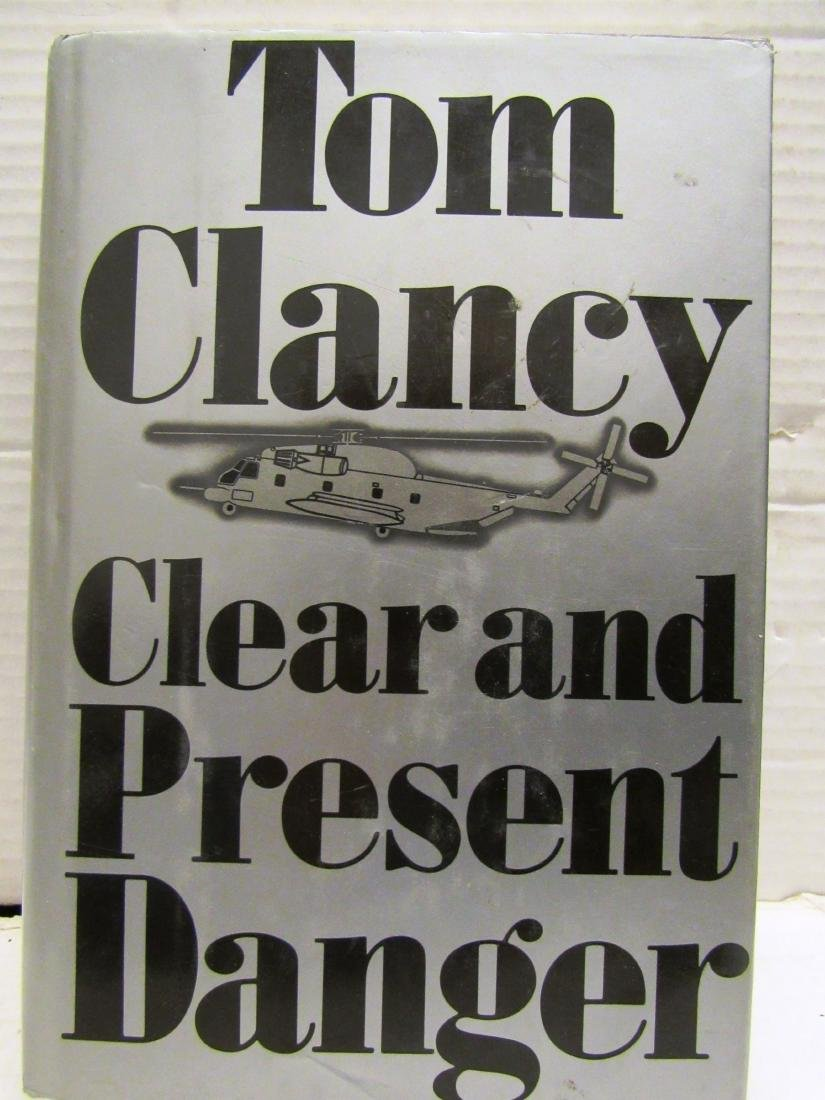 """T Clancy """"Clear...""""  autograph possible 1st ed w/ dj"""