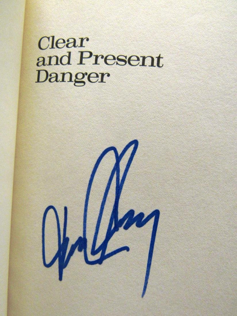 """T Clancy """"Clear...""""  autograph possible 1st ed w/ dj - 3"""