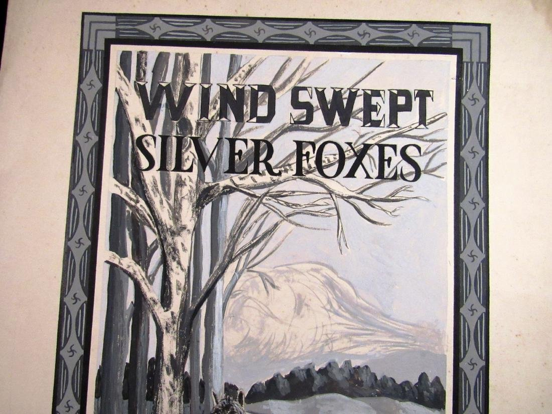 "illustration art ""Wind Swept Silver Foxes"" - 3"