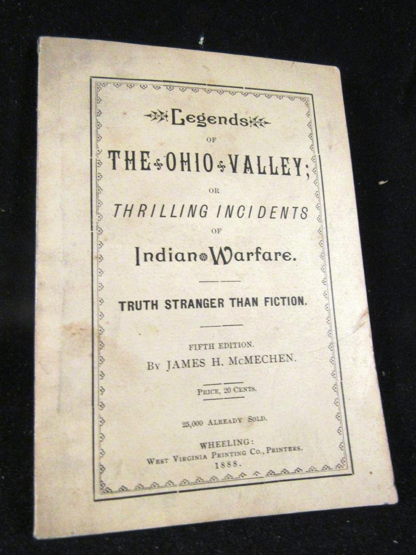 "1888 "" book ""Legends of the Ohio Valley"""