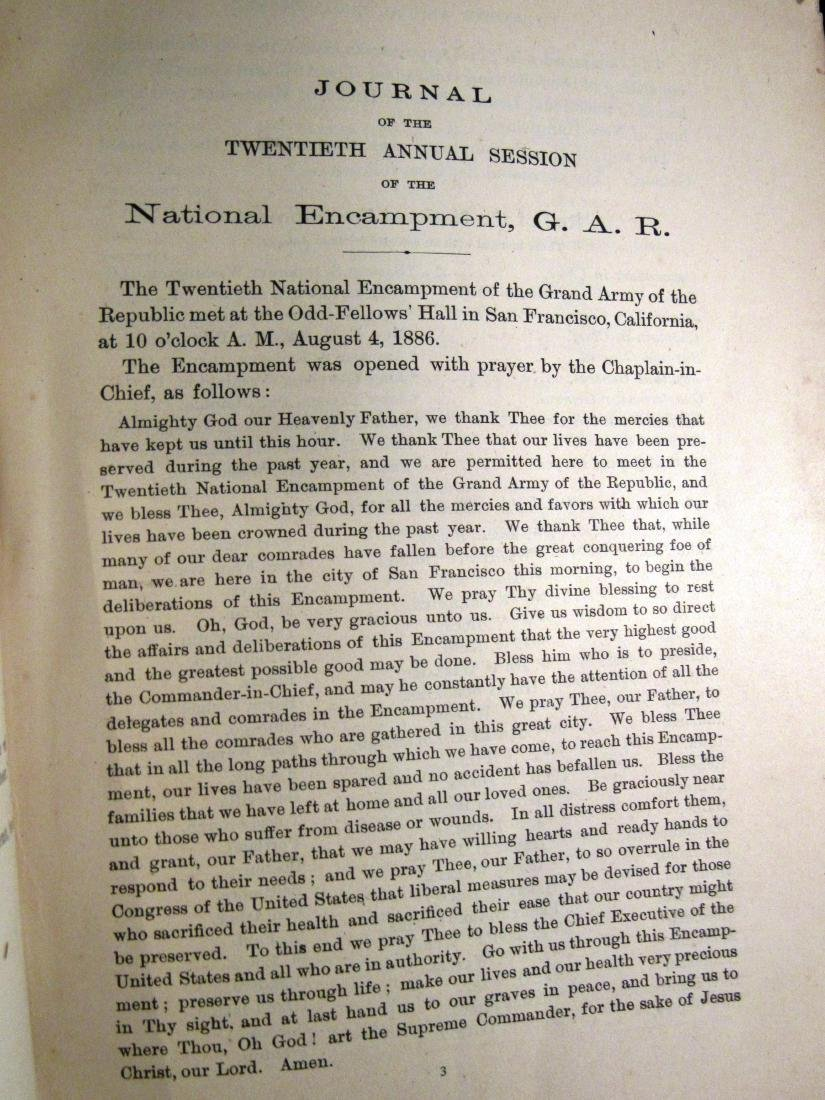 1886 Journal GAR Civil war Vets - 3