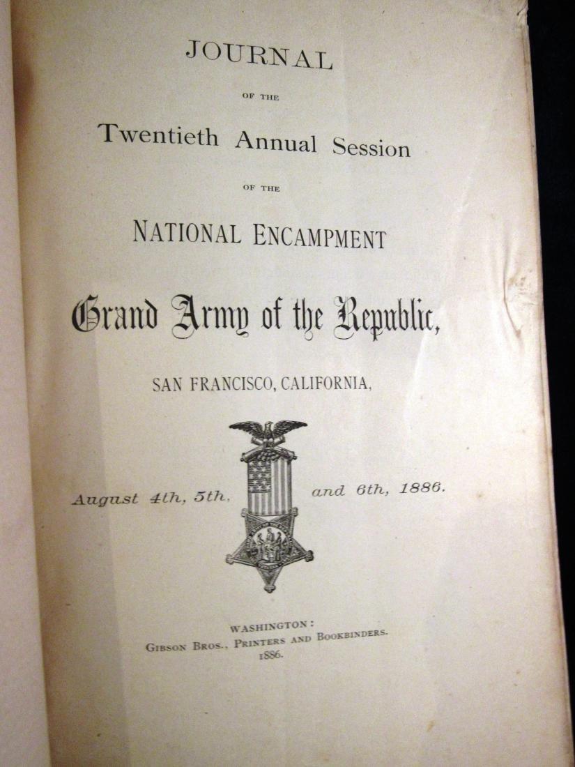 1886 Journal GAR Civil war Vets - 4