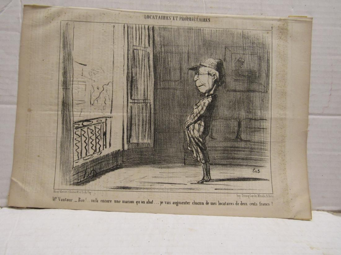 "Henore Daumier litho ""Locataires Et Prorietaires"""