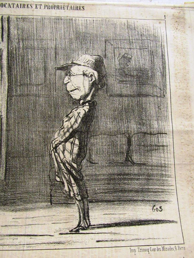 "Henore Daumier litho ""Locataires Et Prorietaires"" - 2"