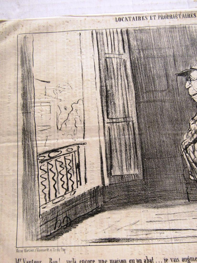 "Henore Daumier litho ""Locataires Et Prorietaires"" - 3"
