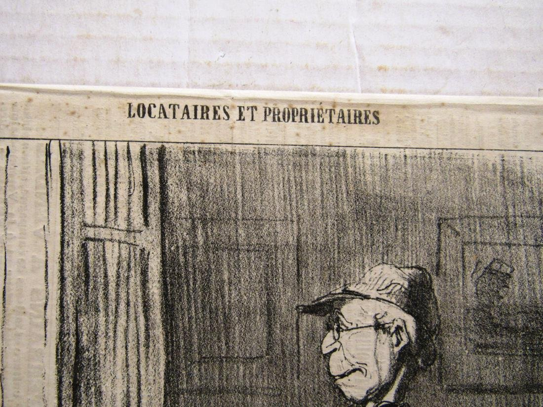 "Henore Daumier litho ""Locataires Et Prorietaires"" - 4"