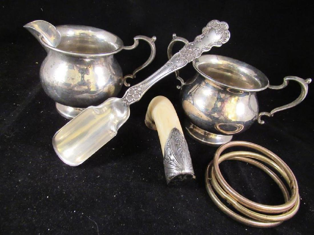 Sterling cheese scoop,plus .925 and 14k - 2