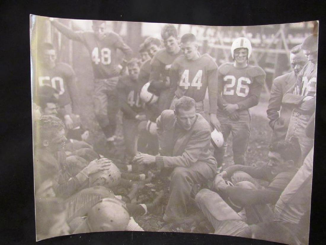 T Rockwell signed photo William's Coll. football team