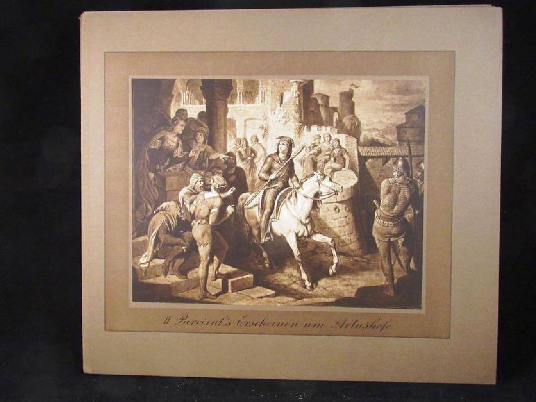 Lot of (12) Parzival sepia prints 19th c - 3