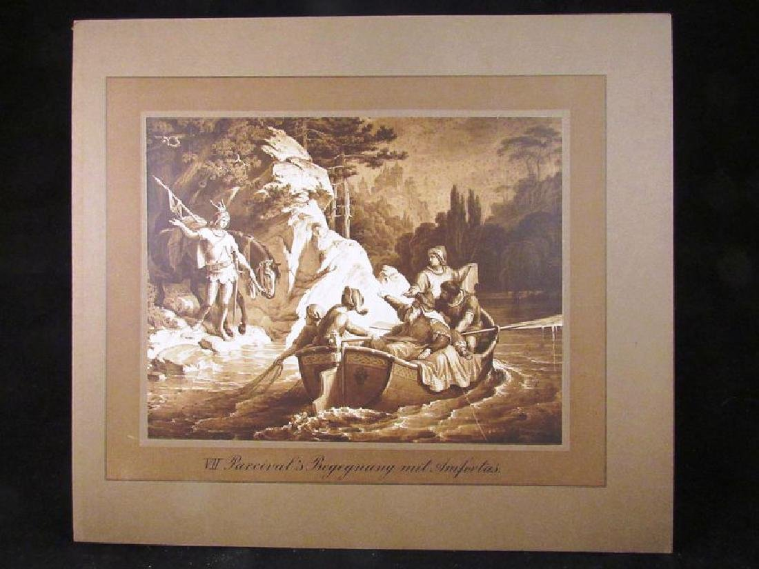 Lot of (12) Parzival sepia prints 19th c - 6