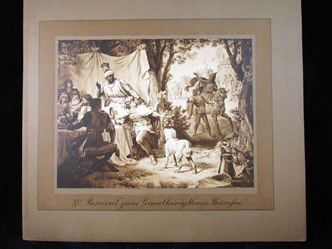 Lot of (12) Parzival sepia prints 19th c - 9