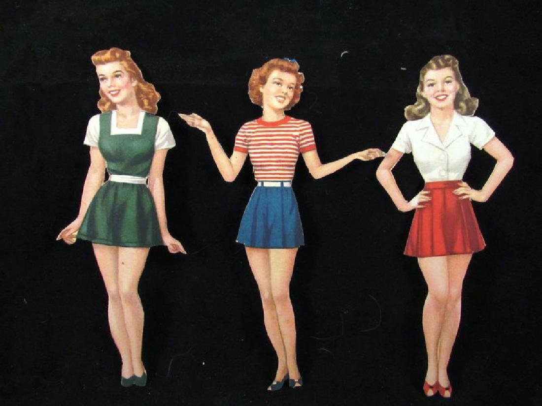 1930's paper dolls Shirley Temple, Jane Withers - 7