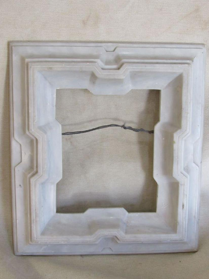 Antique Victorian marble picture frame