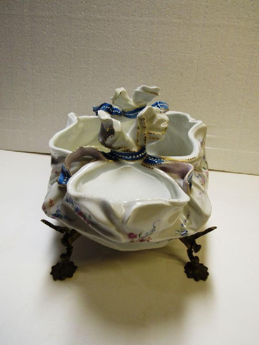 Antique Victorian fancy porcelain bowl - 3
