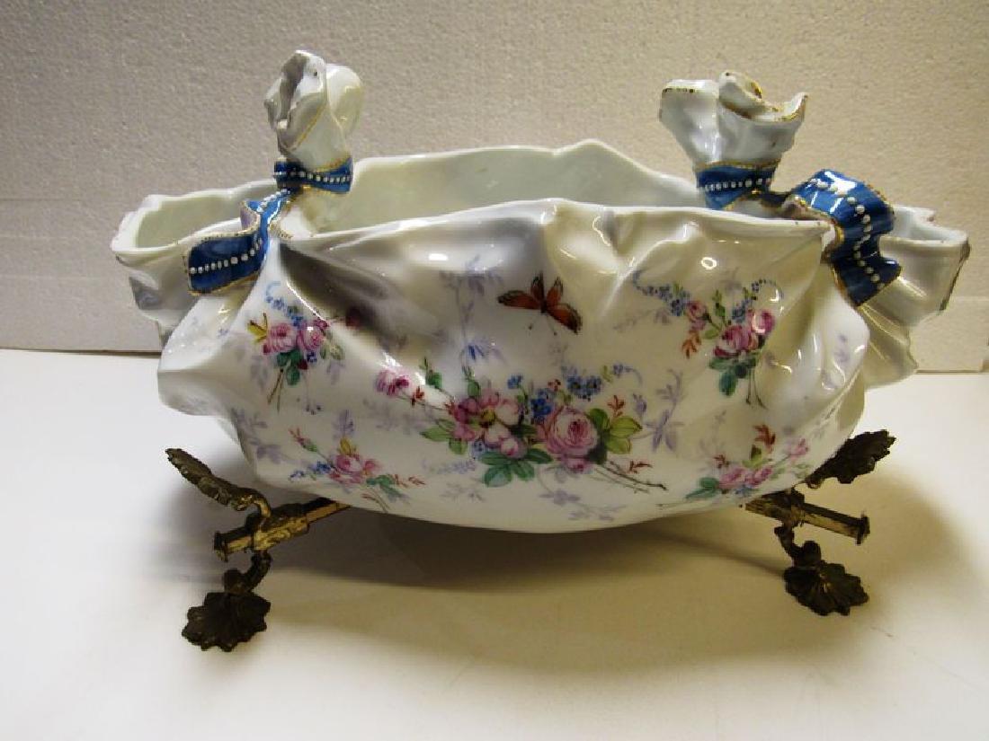 Antique Victorian fancy porcelain bowl - 4