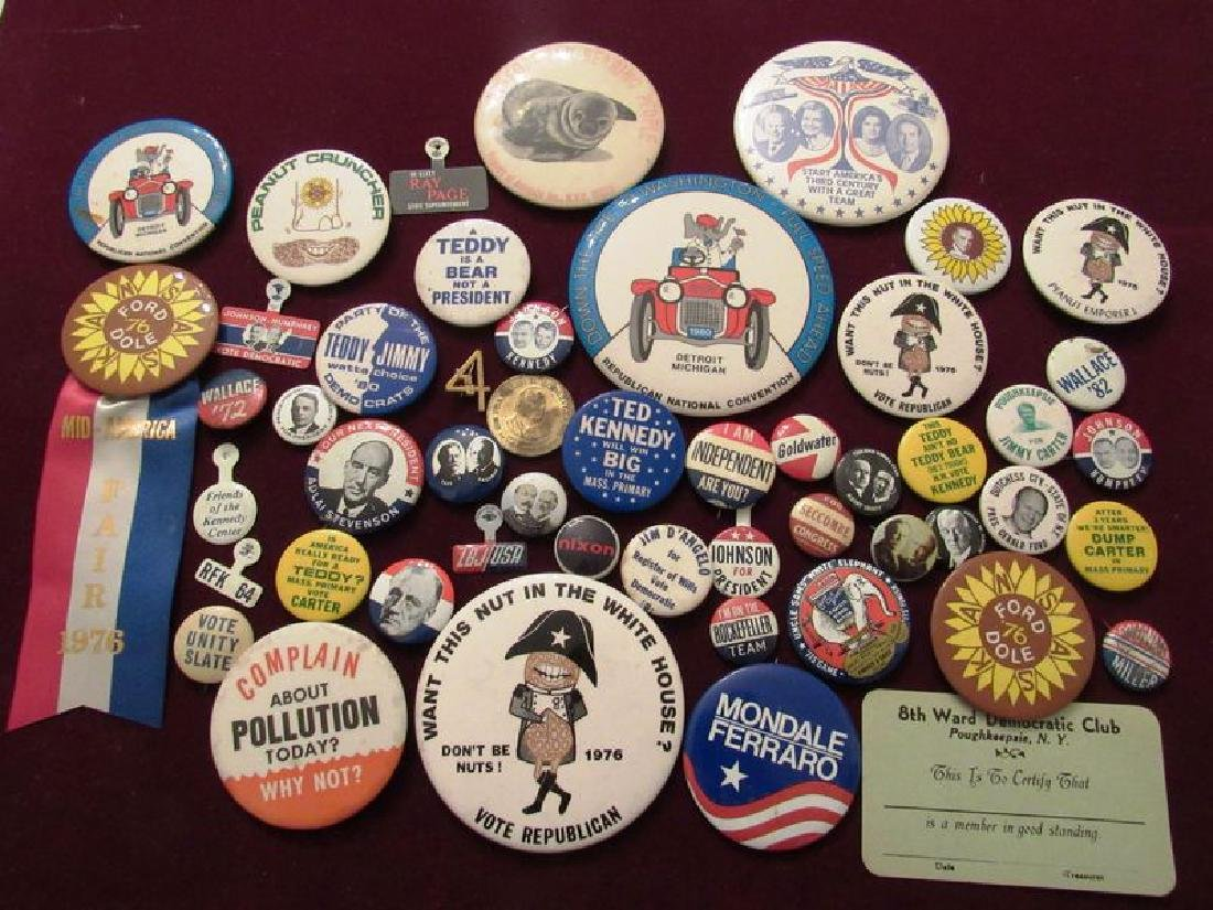 Lot of political pinback buttons(50)
