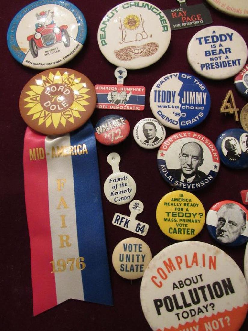 Lot of political pinback buttons(50) - 2