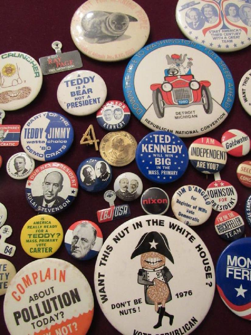 Lot of political pinback buttons(50) - 3