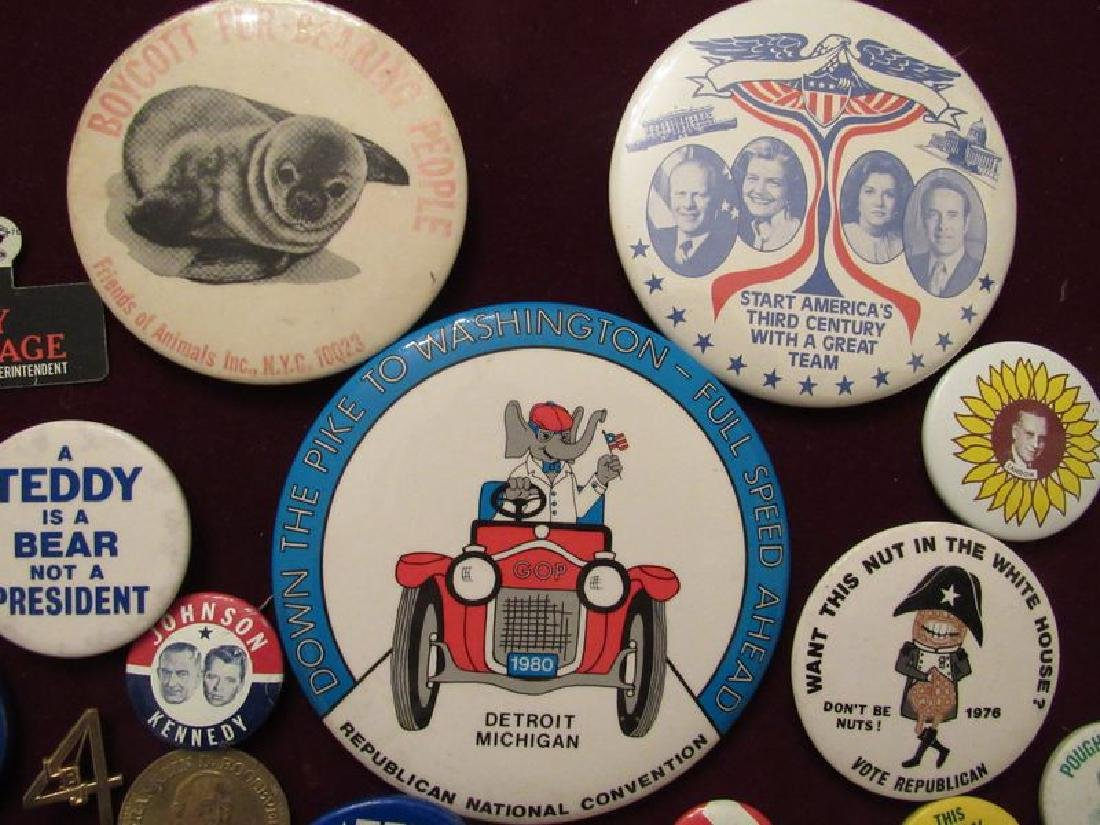 Lot of political pinback buttons(50) - 6