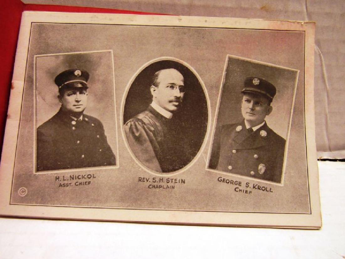 1920 York PA Fire Dept Souvenir booklet - 2